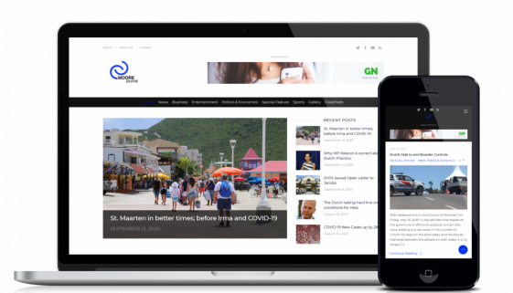 Website design and development service for customer Cmoore Journal