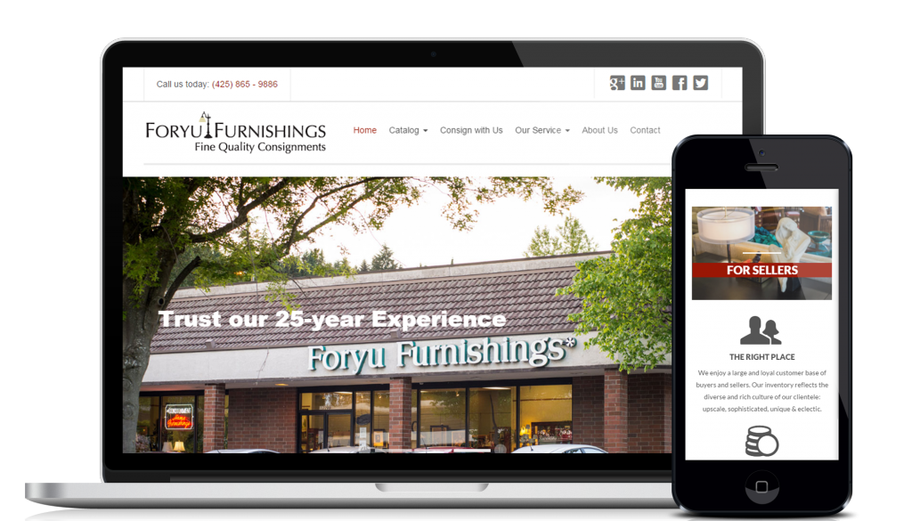 Website design and development service for customer Foryu Furnishing