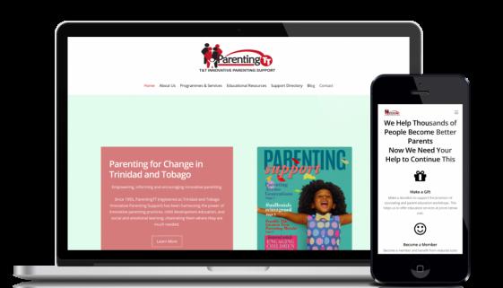 Website design and development service for customer ParentingTT
