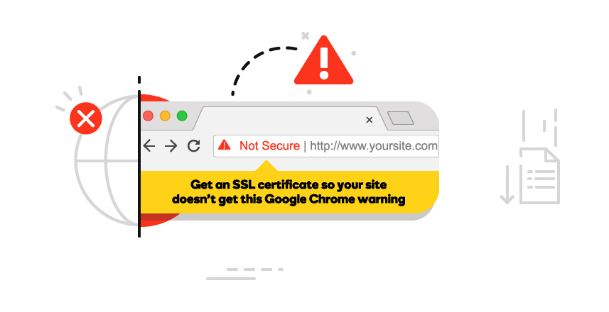 Remove not secure error message from Google Chrome