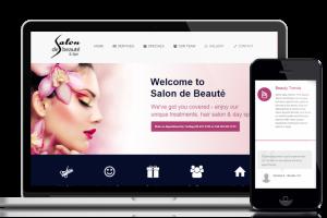 Website design and development service for customer Salon de Beauté