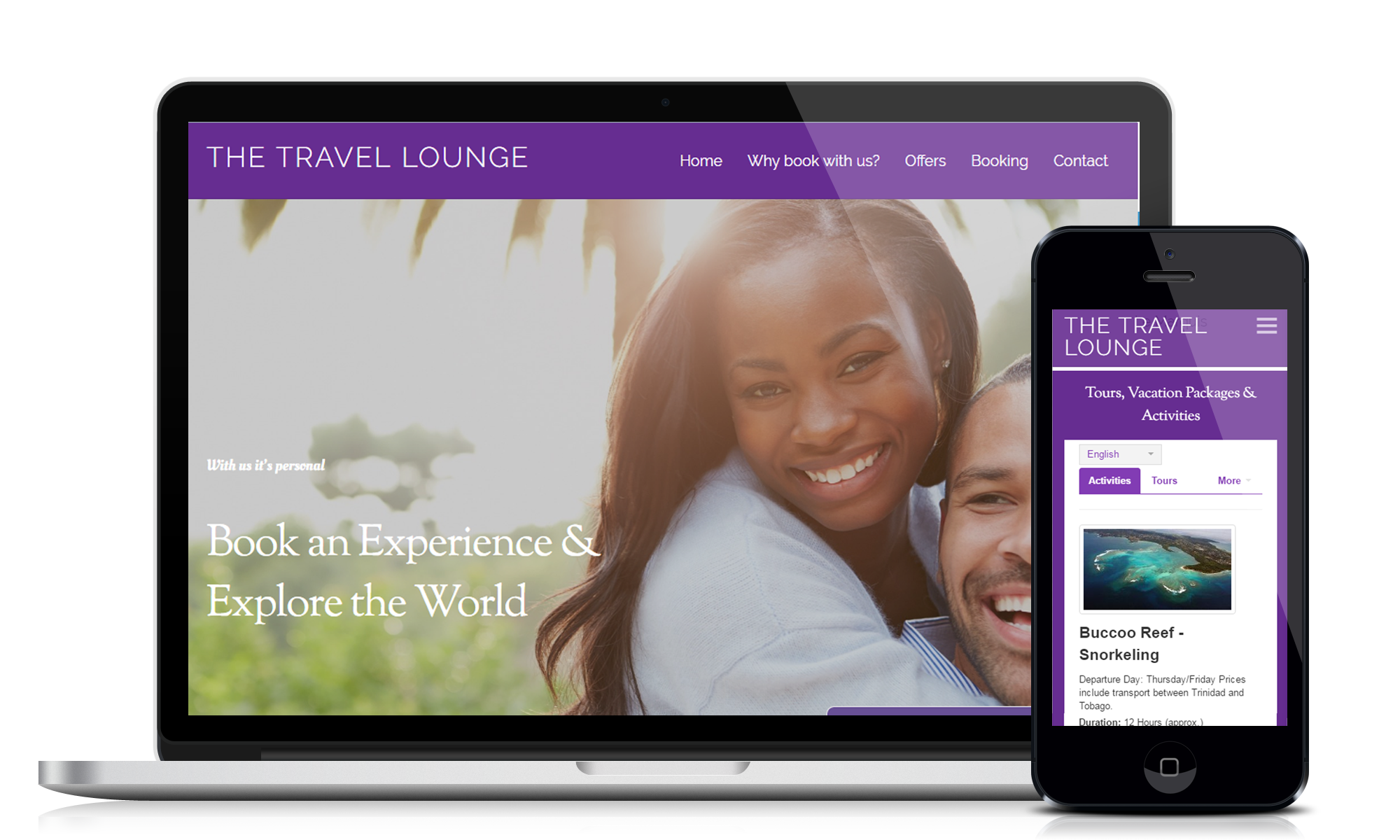 The Travel Lounge website