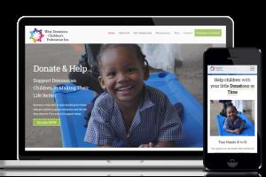 Website design and development service for customer West Dominica Children